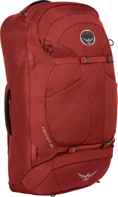 Osprey Farpoint 80 Travel Laptop Backpack Jasper Red - M/L - Osprey Travel Backpacks