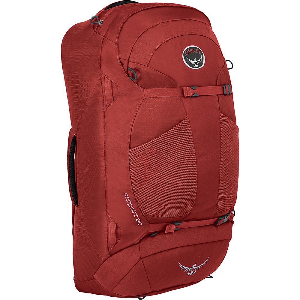 Osprey Farpoint 80 Travel Laptop Backpack Jasper Red - M/L - Osprey Travel Backpacks - Backpacks, Travel Backpacks
