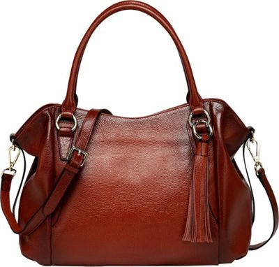 Vicenzo Leather Amedea Leather Tote Red - Vicenzo Leather Leather Handbags