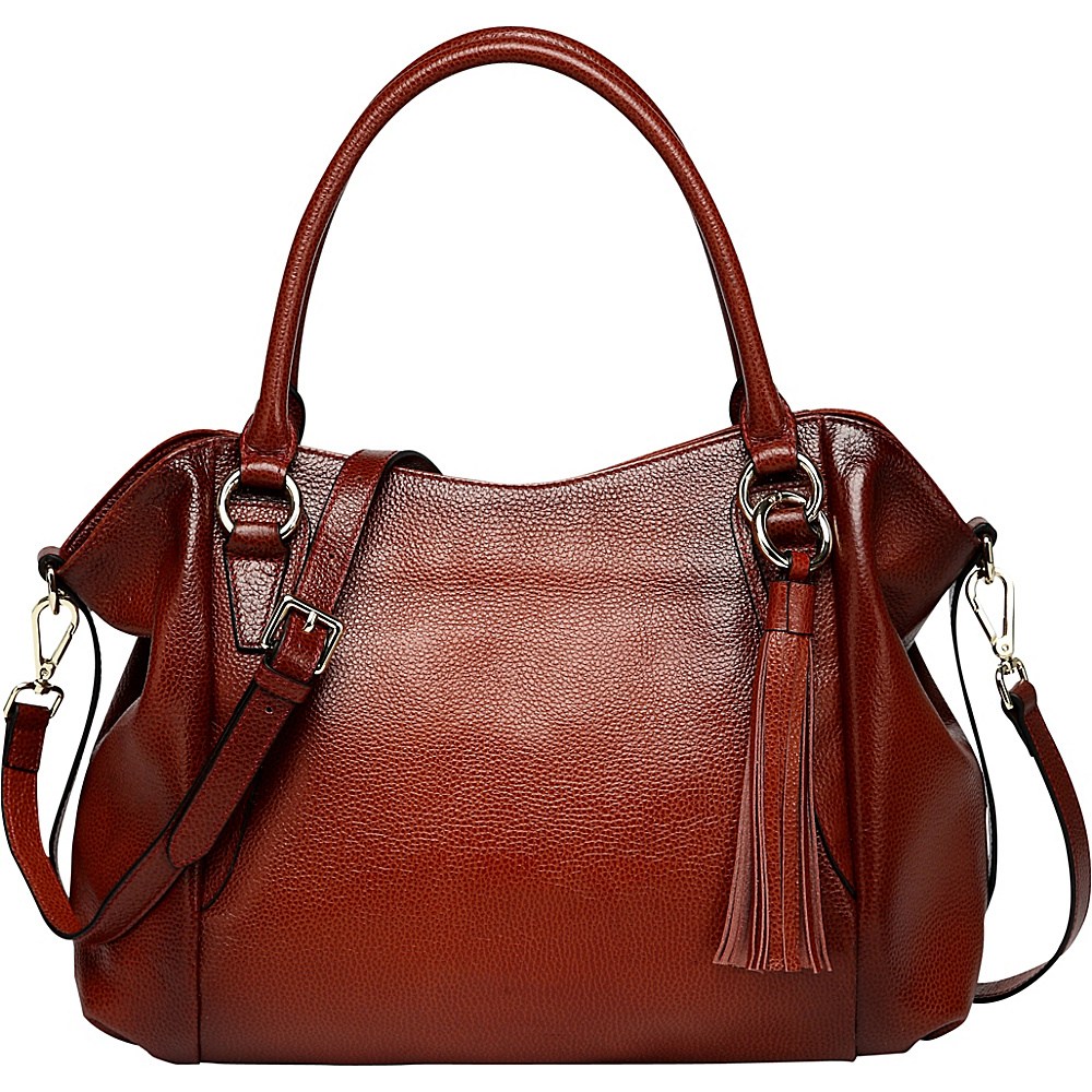 Vicenzo Leather Amedea Leather Tote Red Vicenzo Leather Leather Handbags