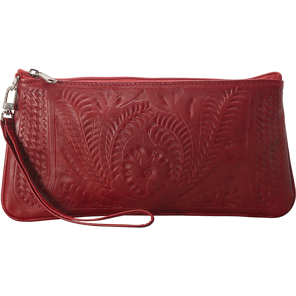 Ropin West Clutch Purse Red - Ropin West Leather Handbags