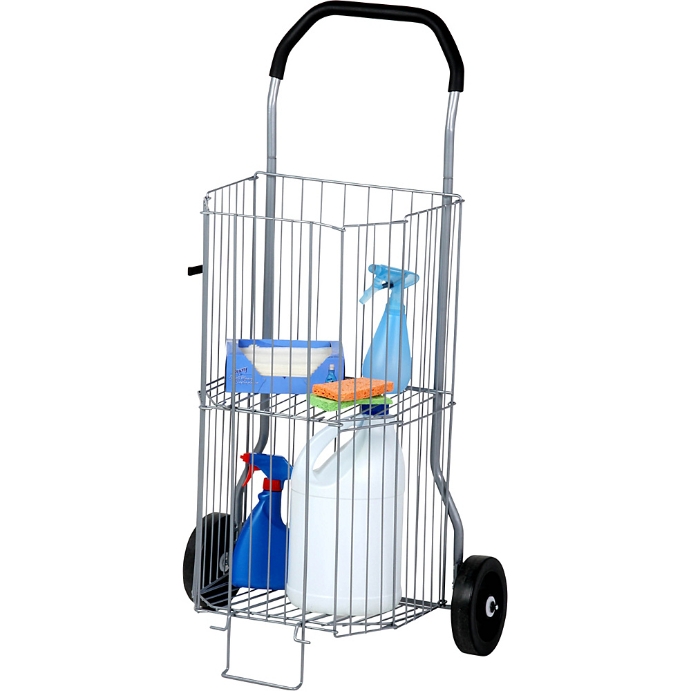 Honey Can Do 2 Tier All Purpose Cart silver Honey Can Do Luggage Accessories