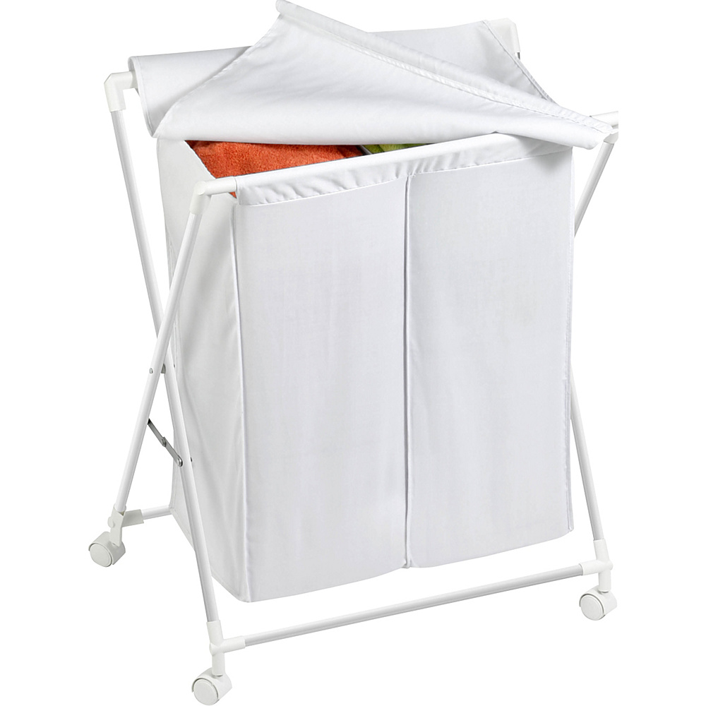 Honey Can Do Double Folding Hamper whtie Honey Can Do Travel Health Beauty