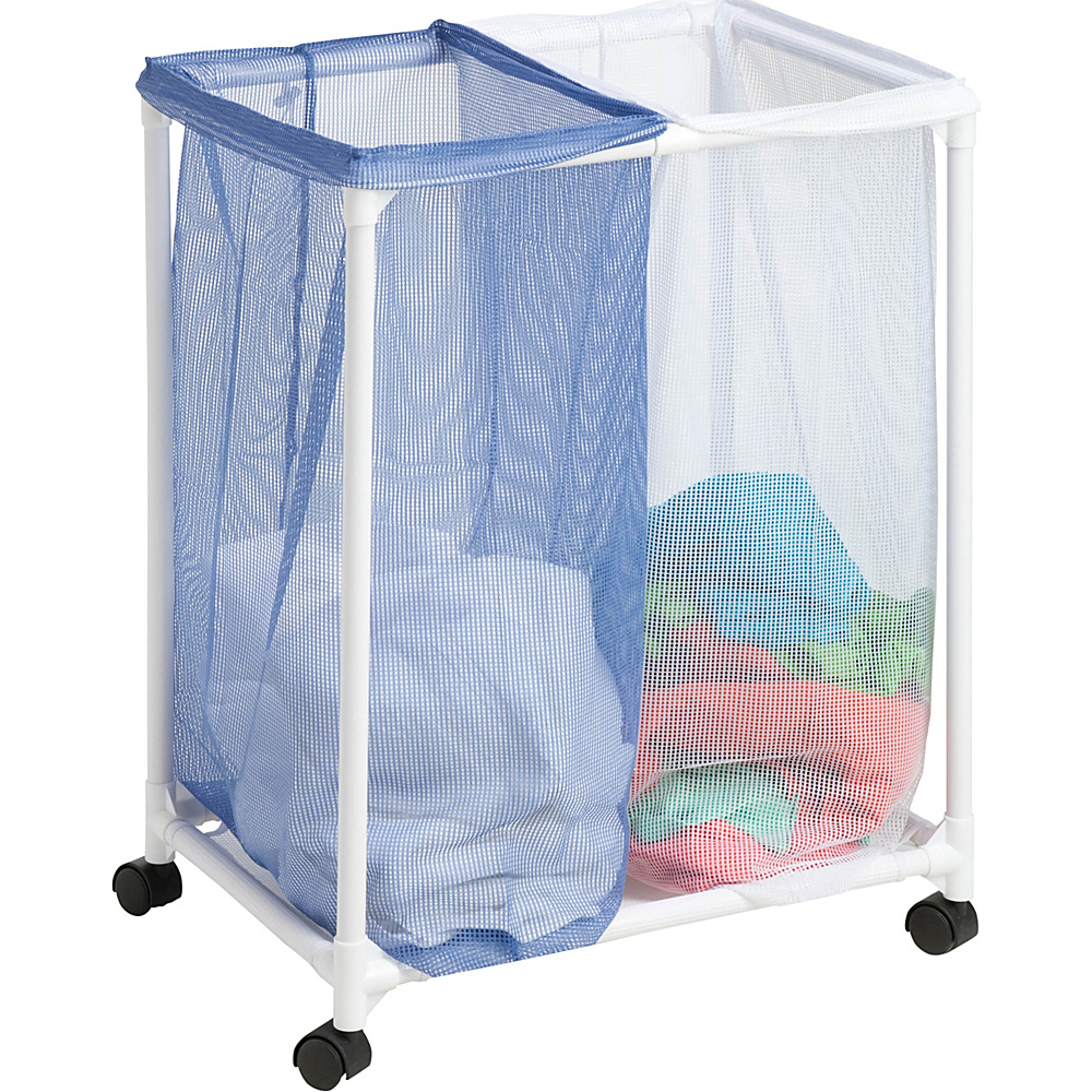 Honey Can Do 2 Bag Mesh Laundry Sorter blue Honey Can Do Travel Health Beauty