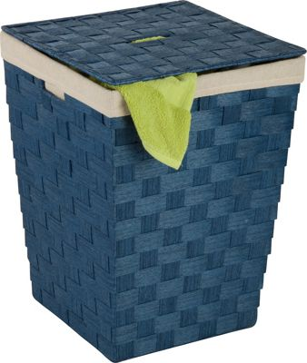 Honey-Can-Do Woven Hamper With Liner blue - Honey-Can-Do Travel Comfort and Health