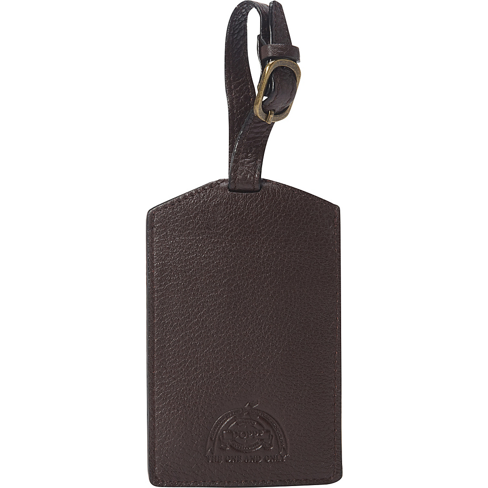 Dopp SoHo Luggage Tag Dark Brown Dopp Luggage Accessories