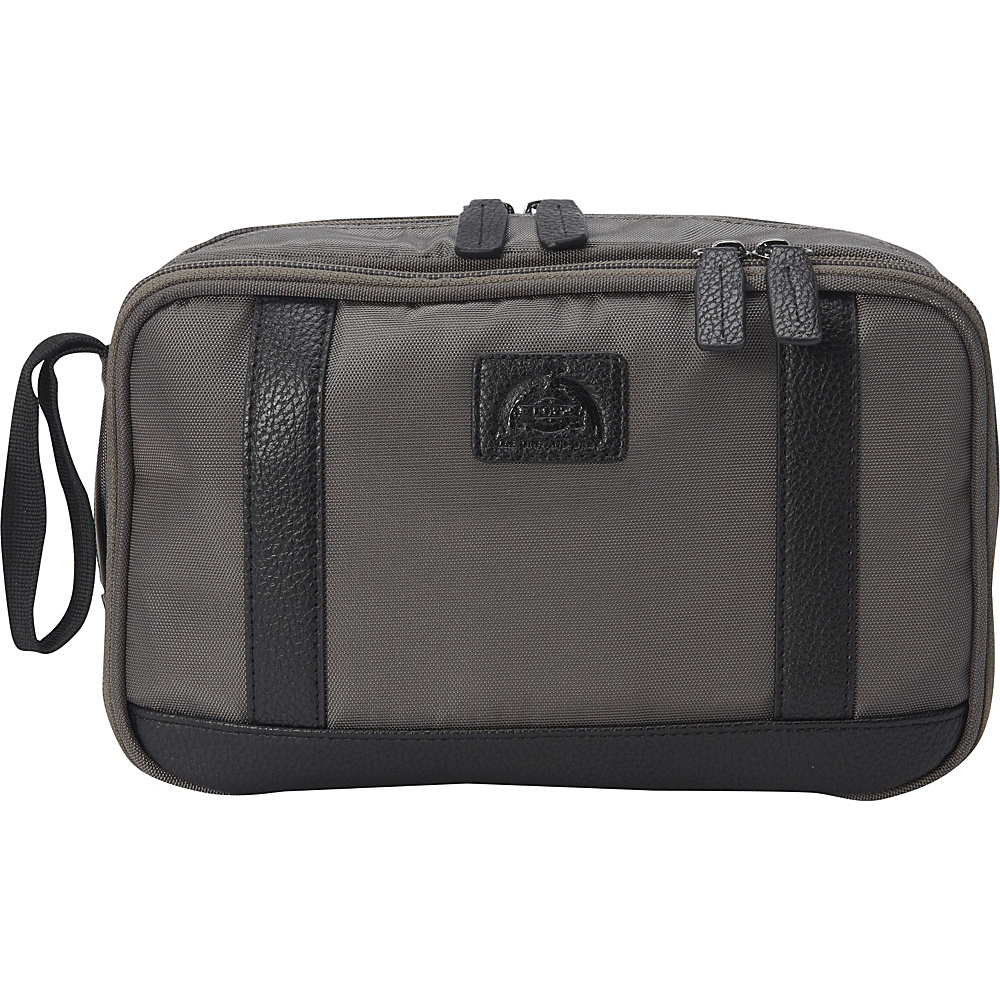 Dopp Commuter Double Zip Toiletry Kit Graphite Dopp Toiletry Kits