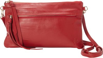 The Mighty Purse Luxe Crossbody Bag Red - The Mighty Purse Leather Handbags