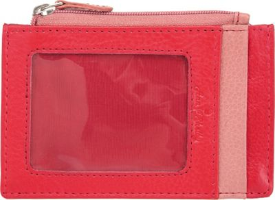 Ann Shelby Giselle Smart Essentials Ladies Leather Wallet Credit Card Holder Red - Ann Shelby Women's Wallets