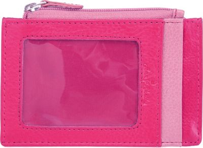 Image of Ann Shelby Giselle Smart Essentials Ladies Leather Wallet Credit Card Holder Pink - Ann Shelby Ladies Small Wallets