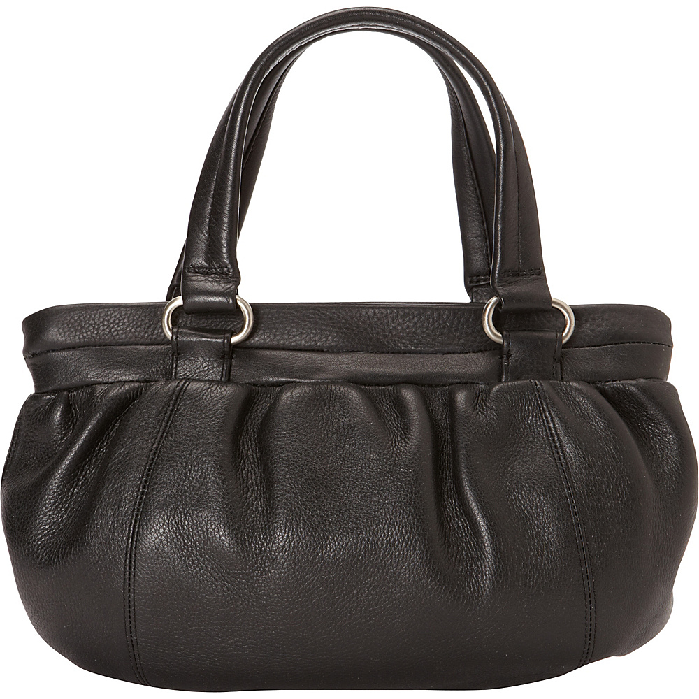 Derek Alexander East/West Top Zip Pouch Black - Derek Alexander Leather Handbags - Handbags, Leather Handbags