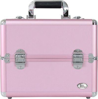 Jacki Design Carrying Makeup Salon Train Case with Expandable Trays - Large Pink - Jacki Design Toiletry Kits
