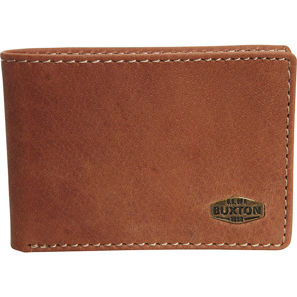 Buxton Expedition RFID Front Pocket I.D. Slimfold Wallet Saddle - Buxton Mens Wallets - Work Bags & Briefcases, Men's Wallets