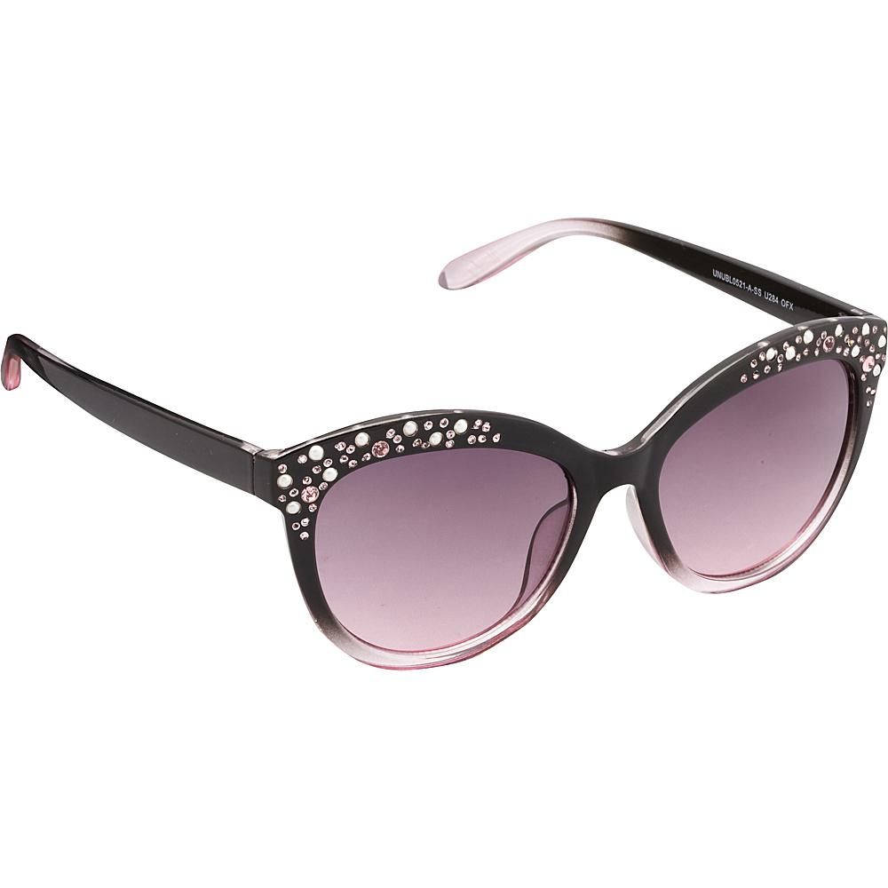 Unionbay Eyewear Rhinestone Cat Eye Sunglasses Black Fade Unionbay Eyewear Sunglasses