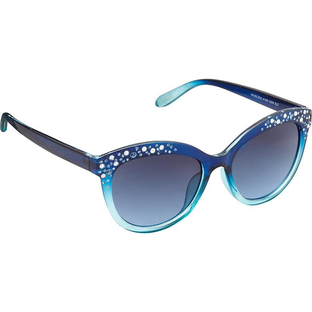 Unionbay Eyewear Rhinestone Cat Eye Sunglasses Blue Fade Unionbay Eyewear Sunglasses