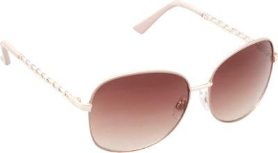 Unionbay Eyewear Metal Chain Link Glam Sunglasses Gold Taupe - Unionbay Eyewear Sunglasses