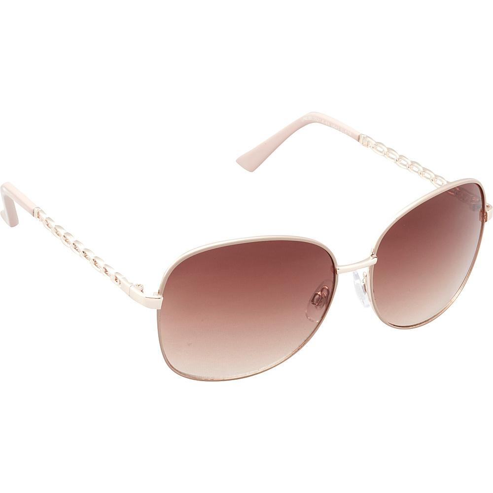 Unionbay Eyewear Metal Chain Link Glam Sunglasses Gold Taupe Unionbay Eyewear Sunglasses