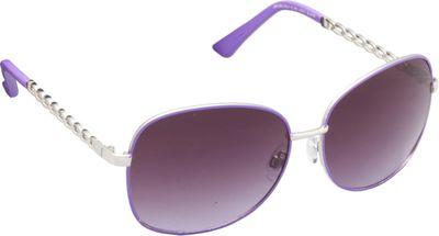 Unionbay Eyewear Metal Chain Link Glam Sunglasses Silver Purple - Unionbay Eyewear Sunglasses