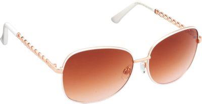 Unionbay Eyewear Metal Chain Link Glam Sunglasses Rose Gold White - Unionbay Eyewear Sunglasses