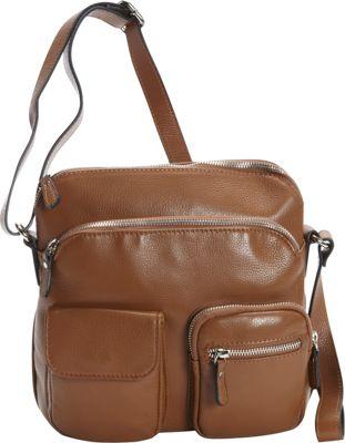 Bella Handbags Alessandra Crossbody Caramel - Bella Handbags Leather Handbags
