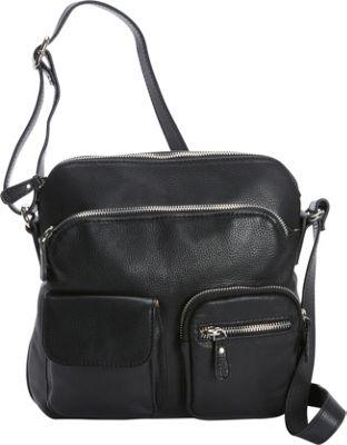 Bella Handbags Alessandra Crossbody Black - Bella Handbags Leather Handbags