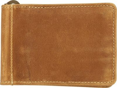 Canyon Outback Bryce Canyon RFID Security Blocking Leather Money Clip Wallet Distressed Tan - Canyon Outback Men's Wallets