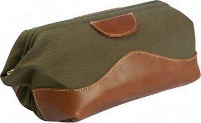 Canyon Outback Crystal Cave Leather and Canvas Toiletry Bag Green - Canyon Outback Toiletry Kits