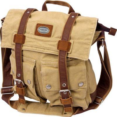 Canyon Outback Urban Edge Grady Canvas Messenger Bag Tan - Canyon Outback Messenger Bags