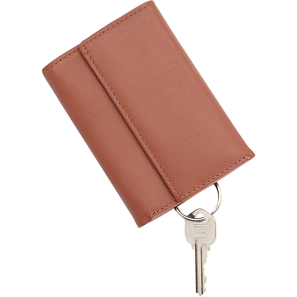 Royce Leather Trifold Leather Key Case Organizer Wallet Tan Royce Leather Women s SLG Other