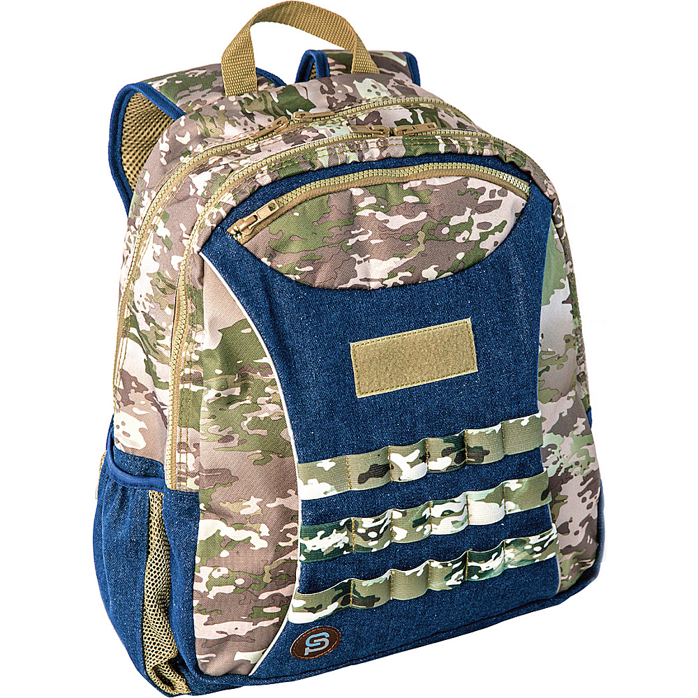Sydney Paige Buy One Give One Kids Backpack Blue Camo Sydney Paige Everyday Backpacks