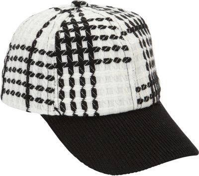 Magid Tweed Baseball Cap White/Black - Magid Hats/Gloves/Scarves 10392603