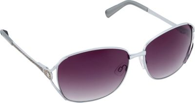 Circus by Sam Edelman Sunglasses Oval Sunglasses Silver/Faux Leather - Circus by Sam Edelman Sunglasses Sunglasses