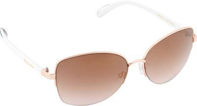 Circus by Sam Edelman Sunglasses Semi Rimless Sunglasses Rose Gold/White - Circus by Sam Edelman Sunglasses Sunglasses