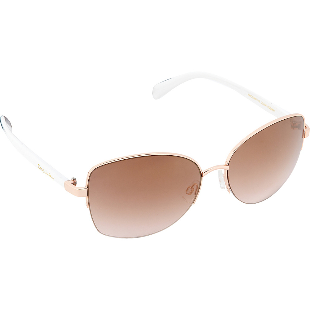 Circus by Sam Edelman Sunglasses Semi Rimless Sunglasses Rose Gold White Circus by Sam Edelman Sunglasses Sunglasses