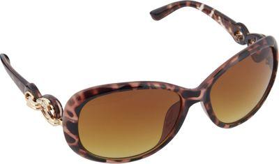 SouthPole Eyewear Oval Sunglasses Tortoise - SouthPole Eyewear Sunglasses