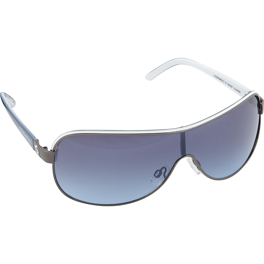 SouthPole Eyewear Metal Shield Sunglasses Gun White Black SouthPole Eyewear Sunglasses