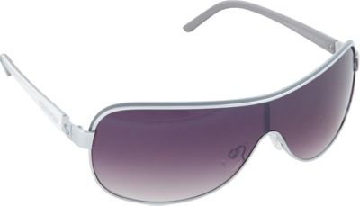 SouthPole Eyewear Metal Shield Sunglasses Silver/Grey/White - SouthPole Eyewear Sunglasses