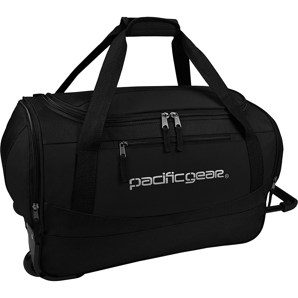Traveler s Choice Pacific Gear Gala 20 Carry On Rolling Duffel Bag Black Black Traveler s Choice Rolling Duffels