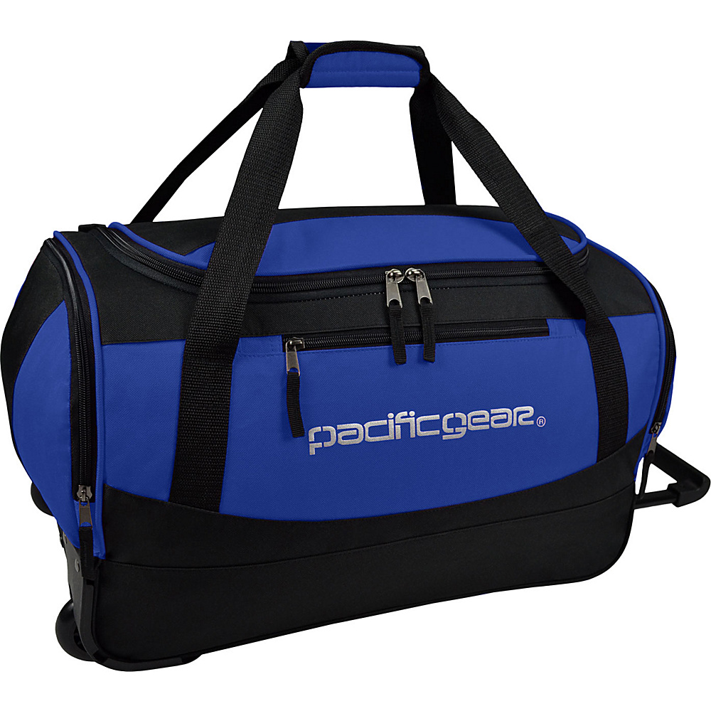 Traveler s Choice Pacific Gear Gala 20 Carry On Rolling Duffel Bag Black Blue Traveler s Choice Rolling Duffels
