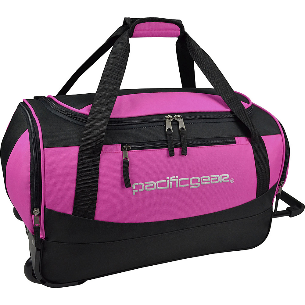 Traveler s Choice Pacific Gear Gala 20 Carry On Rolling Duffel Bag Black Pink Traveler s Choice Rolling Duffels