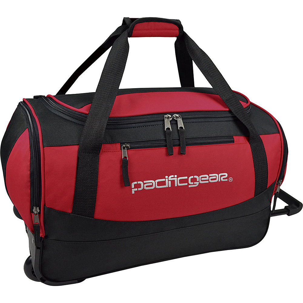 Traveler s Choice Pacific Gear Gala 20 Carry On Rolling Duffel Bag Black Red Traveler s Choice Rolling Duffels
