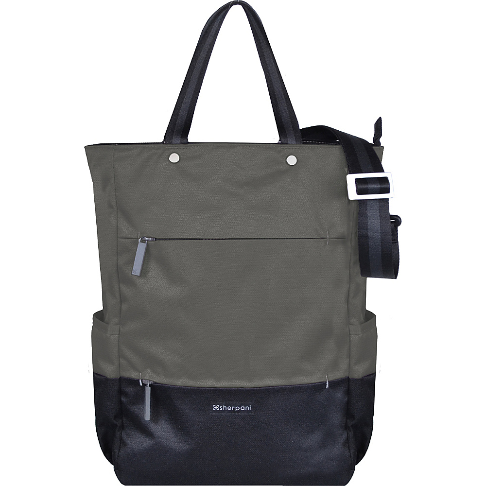 Sherpani Camden Recyled Convertible Backpack Ash Sherpani Everyday Backpacks