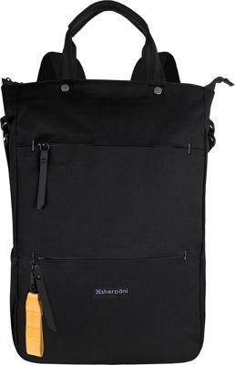 Sherpani Camden RFID Convertible Backpack Tote - 17 inch Raven - Sherpani Fabric Handbags