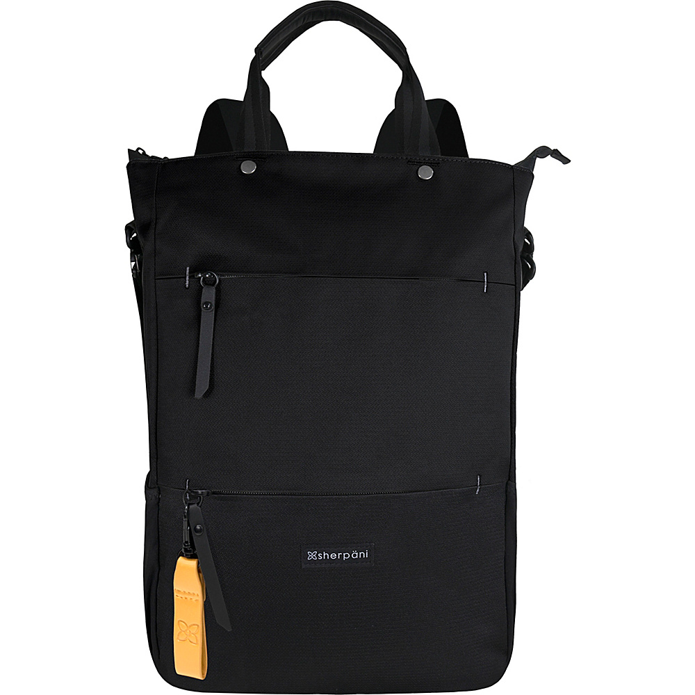 Sherpani Camden Recyled Convertible Backpack Raven Sherpani Everyday Backpacks