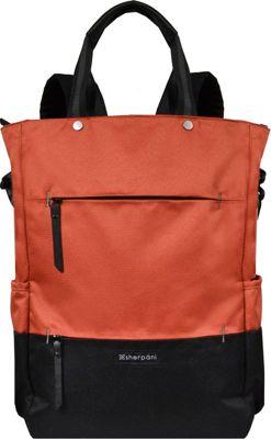 "Sherpani Camden RFID Convertible Backpack Tote - 17"" Canyon - Sherpani Fabric Handbags"