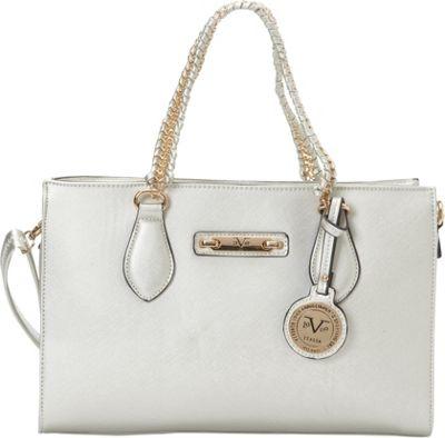 Image of 1969 V Italia Felicitas Chain Shoulder Bag Silver - 1969 V Italia Manmade Handbags