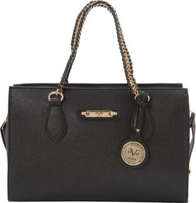 Image of 1969 V Italia Felicitas Chain Shoulder Bag Black - 1969 V Italia Manmade Handbags