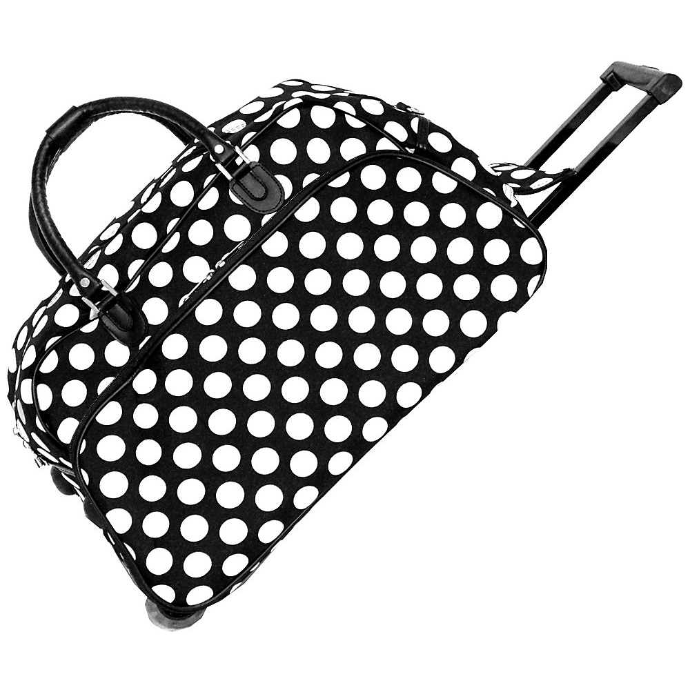 World Traveler Dots II 21 Rolling Duffel Bag Black White Dot II - World Traveler Rolling Duffels - Luggage, Rolling Duffels