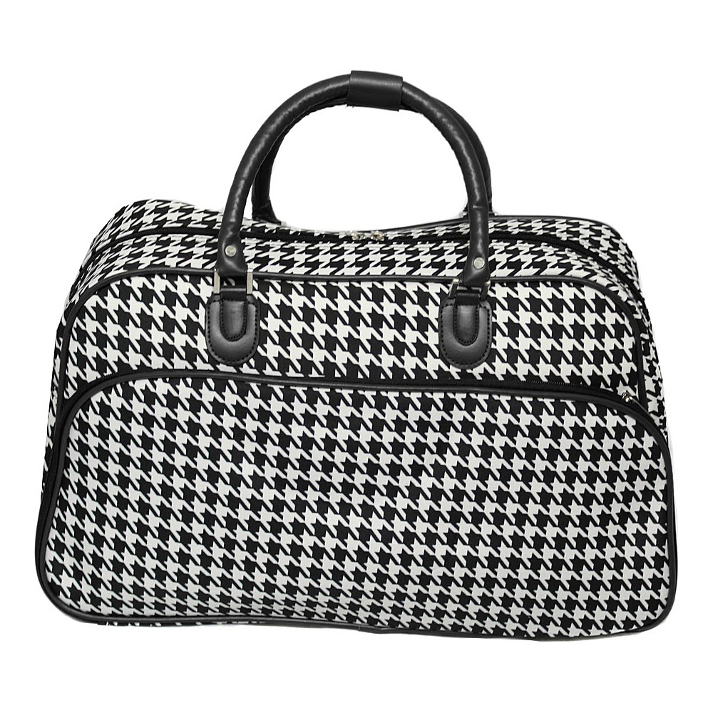World Traveler Houndstooth 21 Carry-On Duffel Bag Black Trim Houndstooth - World Traveler Rolling Duffels - Luggage, Rolling Duffels