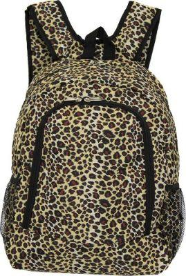 World Traveler Leopard 16 inch Multipurpose Backpack Leopard - World Traveler Everyday Backpacks